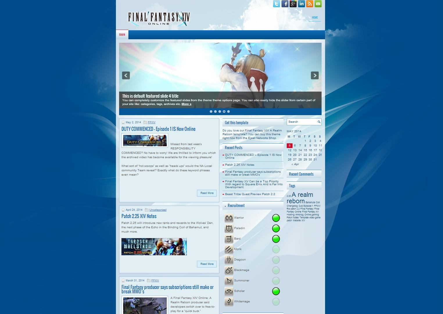 Final Fantasy XIV – Ejeet WordPress Themes Warcraft Shadowlands