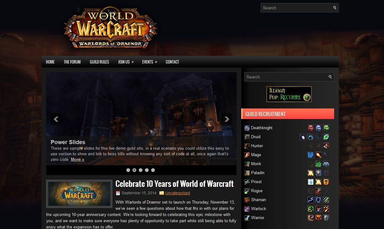 World of Warcraft Warlords Zero