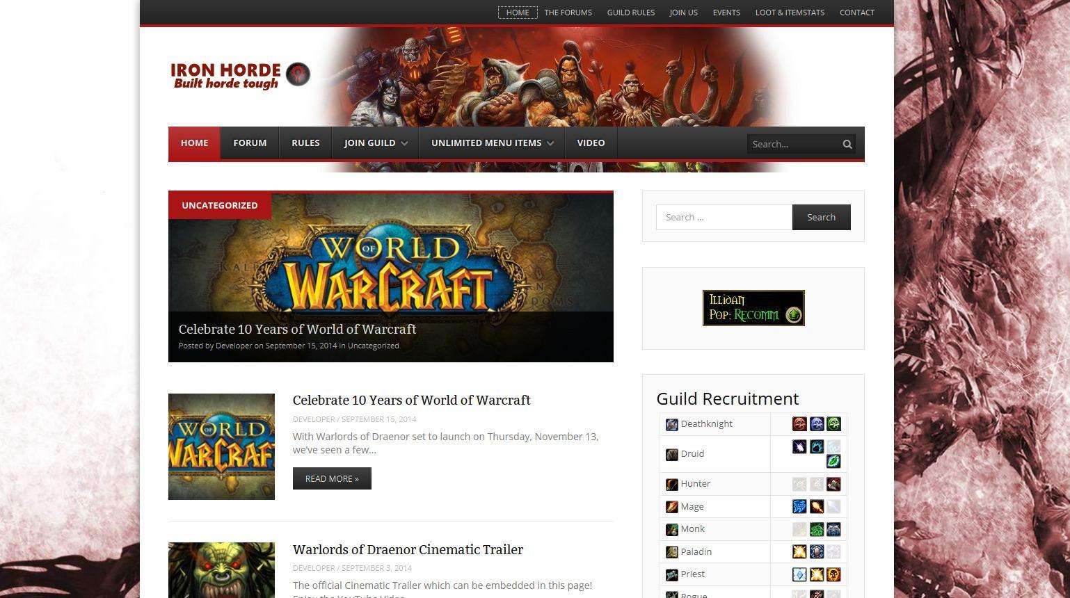 World of Warcraft Guild Hosting - The Very Best Guild Hosting 2014-09-15 13-36-32