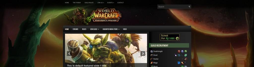 Goblins Delight WordPress Header