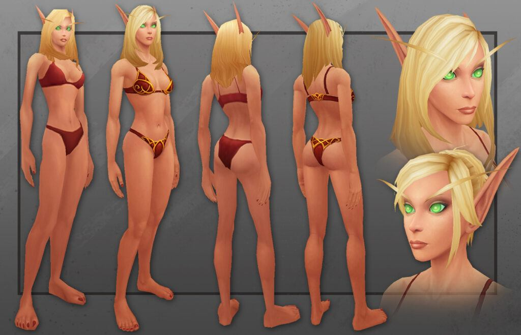 Blood Elf Female Warlords Character Model
