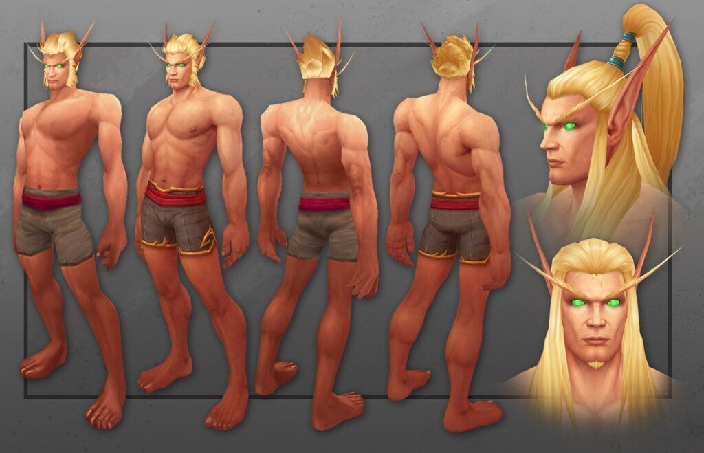 Blood Elf Male Warlords Character Model