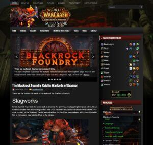 Blackrock World of Warcraft wordpress theme