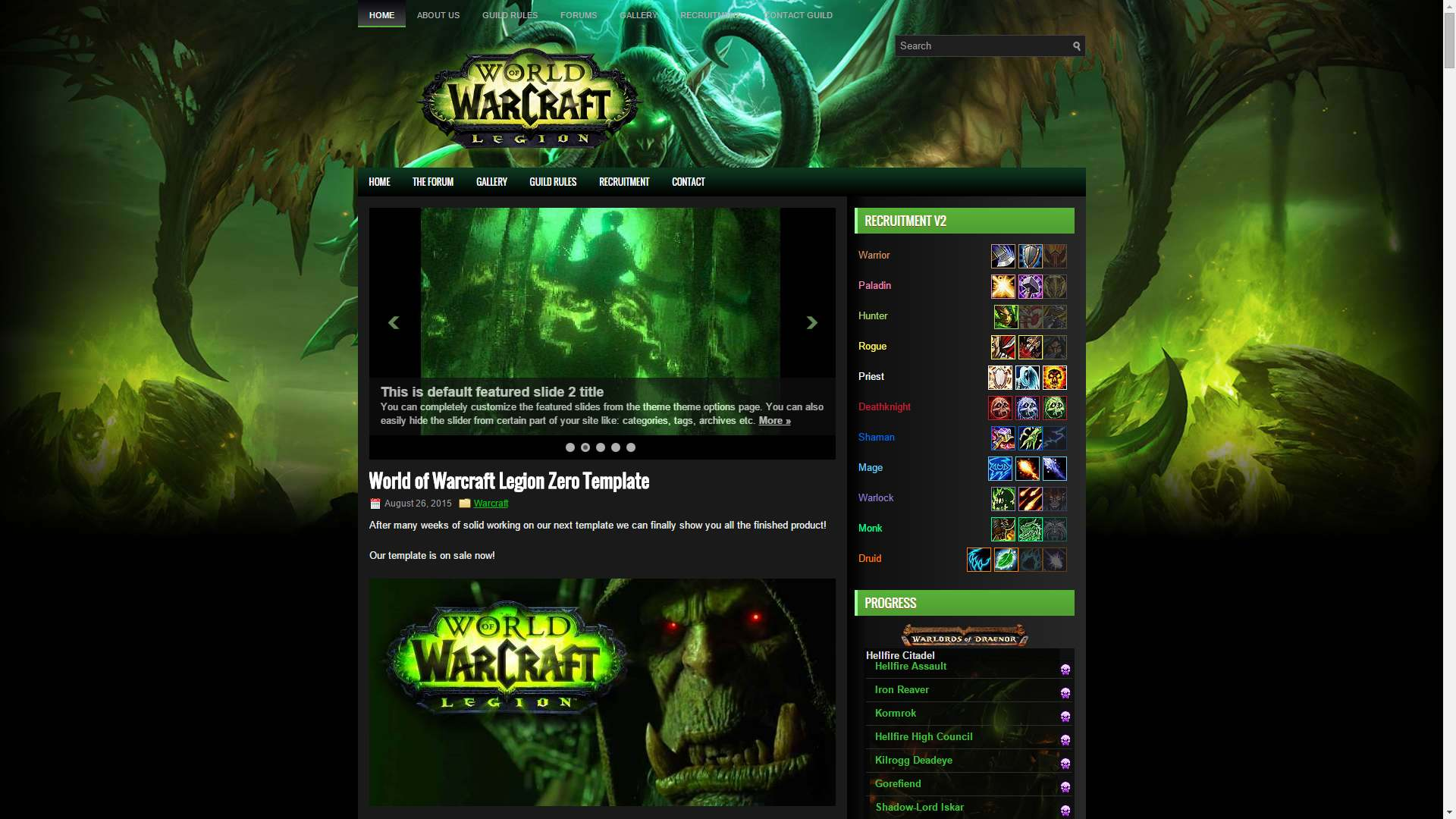 Get the best wordpress theme for your mmo gaming site on sale now top wow themes on sale now maxwellsz