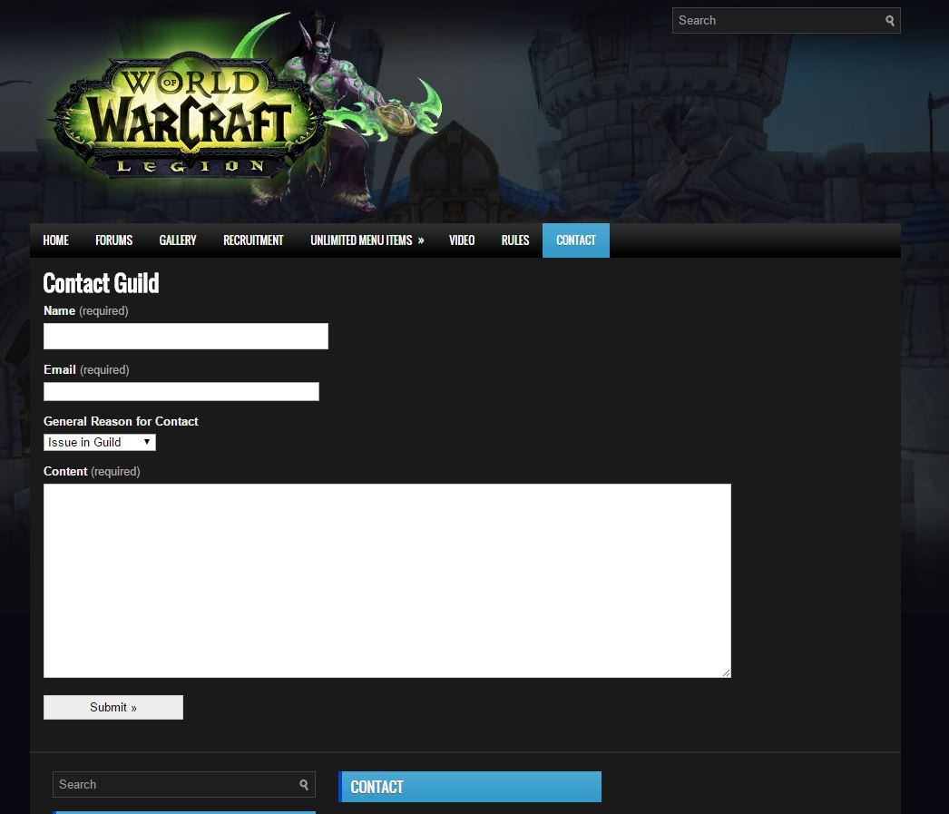 WoW Legion Template for wordpress