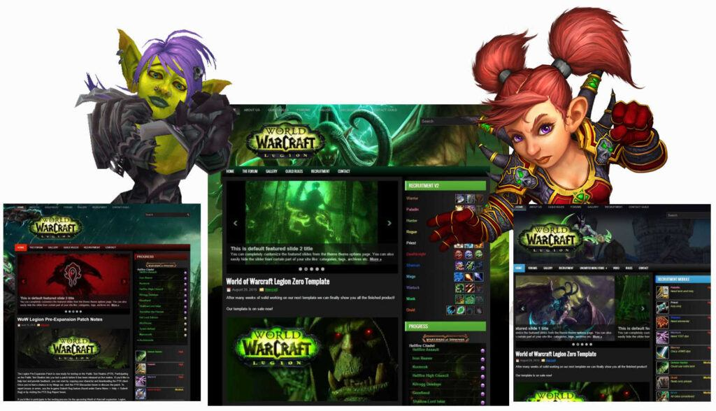 wordpress gaming templates themes for world of warcraft and more