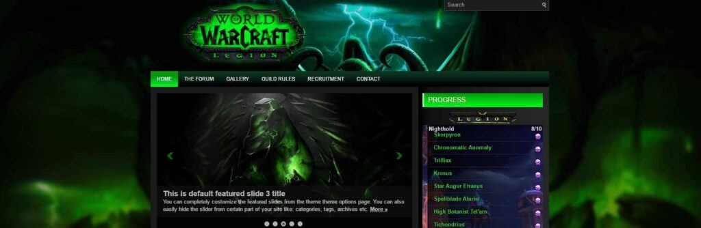 Legion X2 WordPress theme for Warcraft