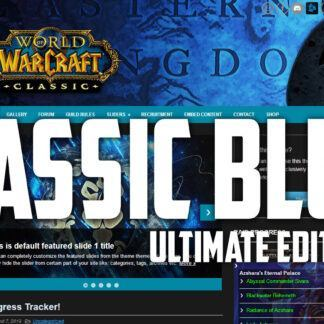 World of Warcraft Classic Edition. The ultimate blue alliance template for wordpress has arrived