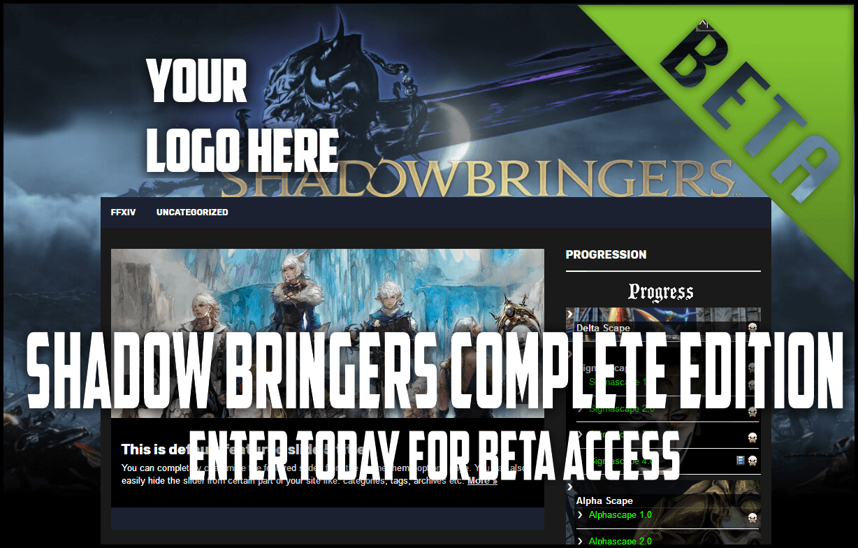 Free WordPress Final Fantasy XIV Shadowbringers Theme