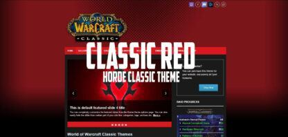 WoW Classic Red Horde Theme for WordPress