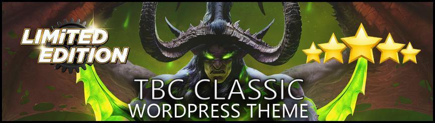 WoW Wordpress TBC Classic Theme